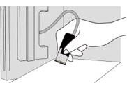 宅配投函口蓋の裏側にある受領印を捺印して扉を閉めます。
