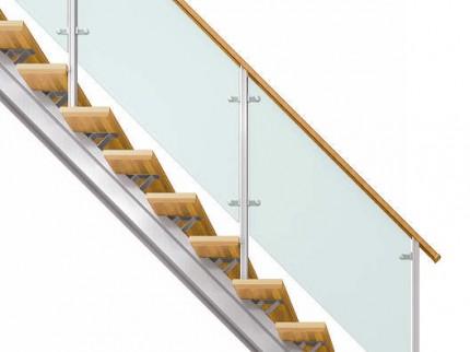 オープンリビング階段 桁タイプ
