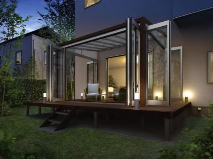 テラス囲い 木調ガーデンルームタイプ