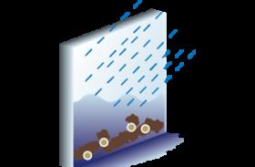 水や雨による洗浄