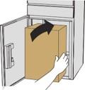 荷物を入れます。箱の大きさによって、入らない場合があります。その場合は無理やり入れないでください。